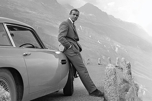 James Bond Poster Sean Connery & Aston Martin