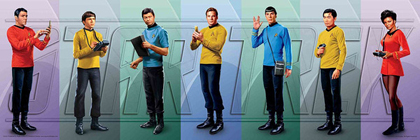 Star Trek Classics Crew Poster