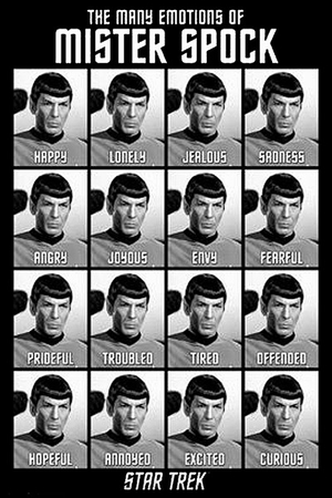 Star Trek Classics Poster The Many Emotions of Mr. Spock