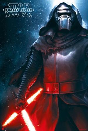 Star Wars: Episode 7 Poster Kylo Ren Flammenschwert