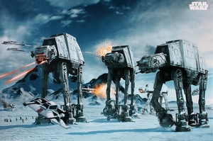 Star Wars Poster AT-AT Fighter