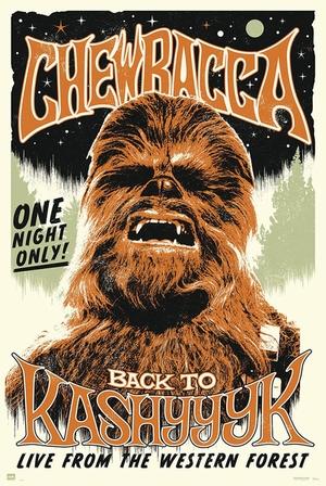 Star Wars Poster Chewbacca Back to Kashyyyk