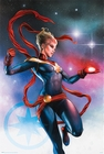 Captain Marvel Poster Galaxy