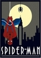 Spider Man Art Deco - Poster