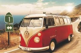 California Camper VW Bus Poster
