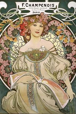 Alfons Mucha Poster Jugendstil F. Champenois 1897