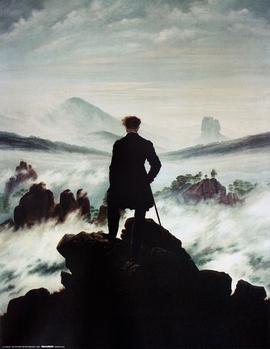 C. D. Friedrich Kunstdruck Wanderer über dem Nebelmeer