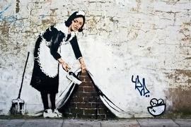 Banksy Poster Dienstmädchen