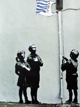 Banksy Poster Graffiti Tesco Flag