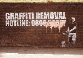 Banksy Poster Graffity Removal Hotline