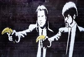 Banksy Poster Jules & Vincent Bananen
