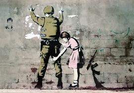 Banksy Poster Soldat und M�dchen