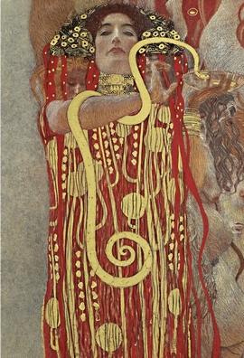 Hygieia Poster Gustav Klimt