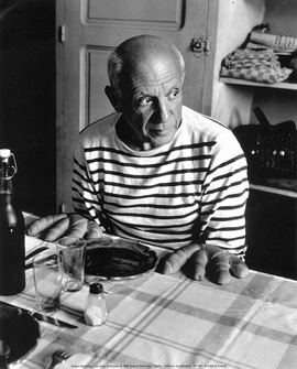 Les pains de Picasso, 1952 Kunstdruck Robert Doisneau