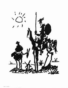 Pablo Picasso - Don Quixote Kunstdruck