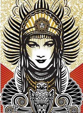 Shepard Fairey Kunstdruck Peace Goddess