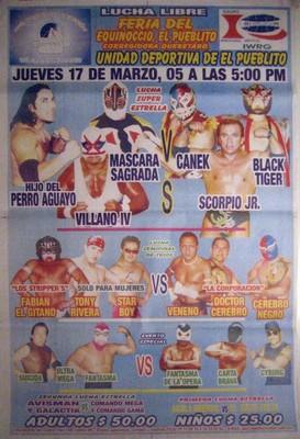 Hijo Del Perro Aguayo - Villano IV - Mascara Sagrada - Lucha Libre