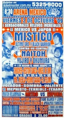 G.T.W.A - Lucha Libre Poster - Mistico-2 Okt 09
