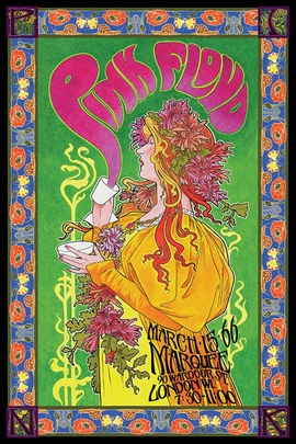Pink Floyd Tourplakat 1966