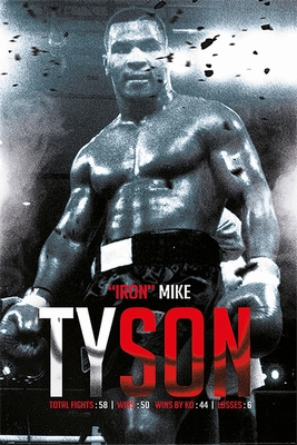 Mike Tyson Poster Boxing Record