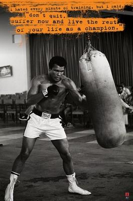 Muhammad Ali Poster Sandsack