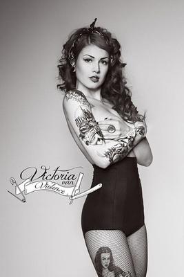 Victoria van Violence Poster Tattoos