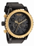 THE 51-30 CHRONO LEATHER - BLACK / RAW GOLD - NIXON UHR