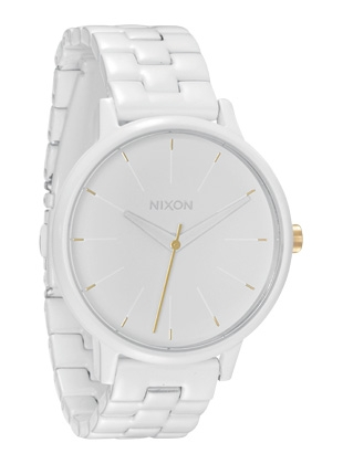 The Kensington - All White / Gold - Nixon Uhr