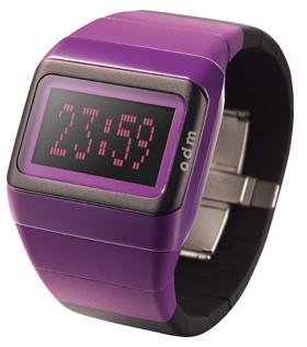 Link Uhr violett - schwarz