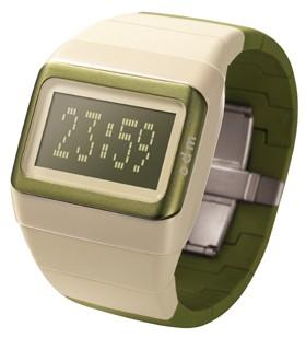 Link Uhr grün - beige