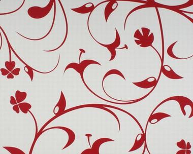 tapete contzen lilium rot lars contzen retro tapeten pr sentiert von klang und kleid. Black Bedroom Furniture Sets. Home Design Ideas