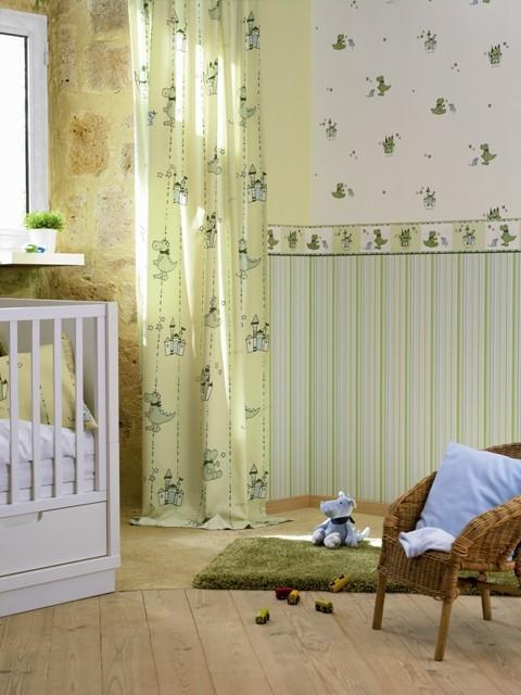 tapete dragoncastle bord re gr n esprit kids retro. Black Bedroom Furniture Sets. Home Design Ideas