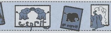 Tapete - Wild Safari - Bord�re Blau