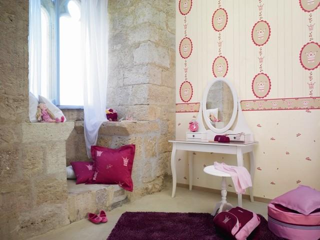tapete little princess bord re rot esprit kids. Black Bedroom Furniture Sets. Home Design Ideas