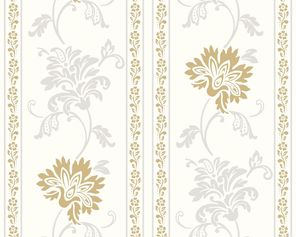 tapete classic fleece weiss gold classic fleece retro tapeten pr sentiert von klang und. Black Bedroom Furniture Sets. Home Design Ideas