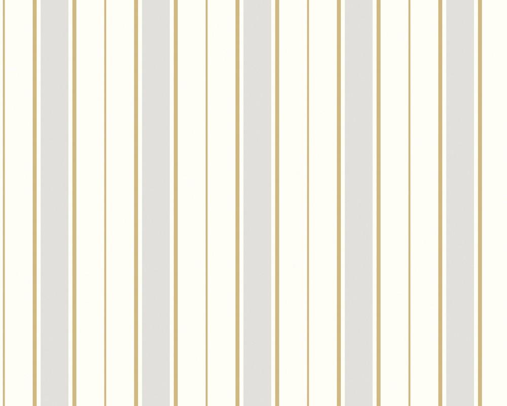 Tapete classic fleece streifen weiss gold classic for Fleece tapete