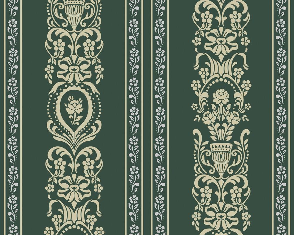 tapete classic fleece gr n classic fleece retro tapeten pr sentiert von klang und kleid. Black Bedroom Furniture Sets. Home Design Ideas