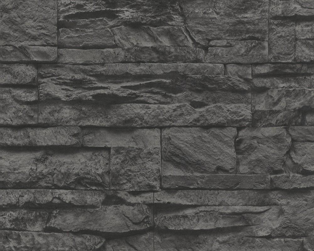 Hochwertige Tapeten In Steinoptik : Dark Grey Brick