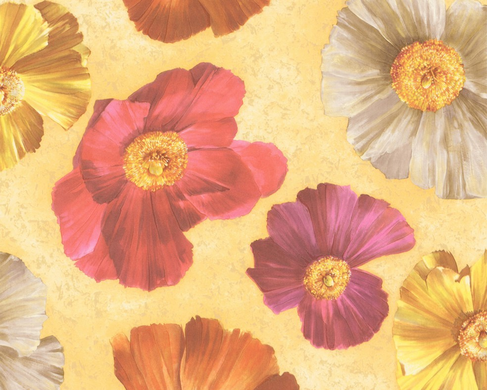 Tapeten Beige Mit Blumen : tapete faro blumen beige profiltapete aus vinyl mit originellem blumen