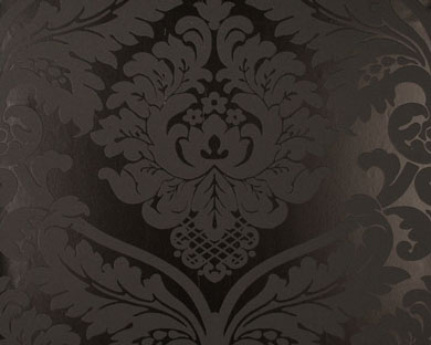 tapete flock schwarz flock retro tapeten pr sentiert von klang und kleid tapeten in. Black Bedroom Furniture Sets. Home Design Ideas
