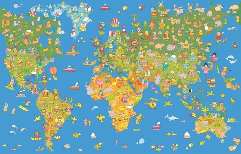Shopping Tapeten Fototapete Weltkarte F R