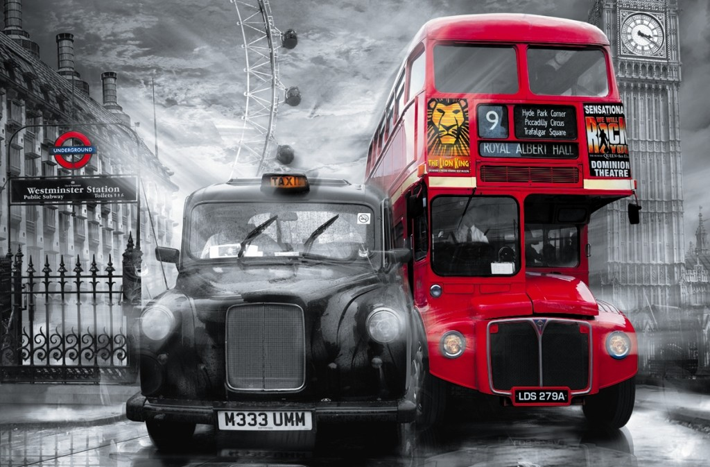 fototapete riesenposter london taxi bus shopping fussball trikots. Black Bedroom Furniture Sets. Home Design Ideas