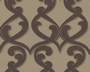 TAPETE - FLOCK III - NEW BAROQUE - BRAUN