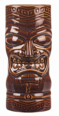 Angry Tiki Mug Brown