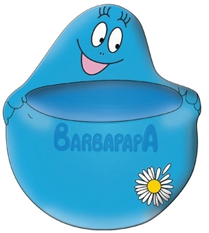 Barbapapa Blumentopf - Blau