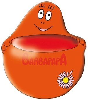 Barbapapa blumentopf rot barbapapa presented by k 39 n 39 k for Blumentopf rot