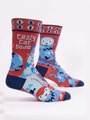 Herrensocken Blue Q - Crazy Cat Dude