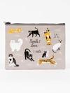 ZIPPER TASCHE - PEOPLE I LOVE: 1. CATS