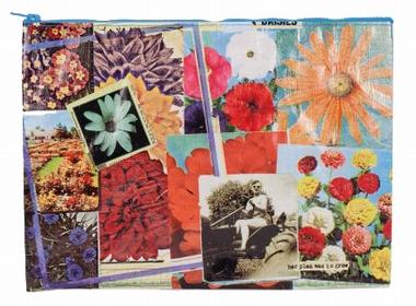Jumbo Zipper Tasche - Flower Garden