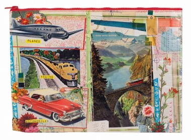 Jumbo Zipper Tasche - Planes, Trains, Automobiles